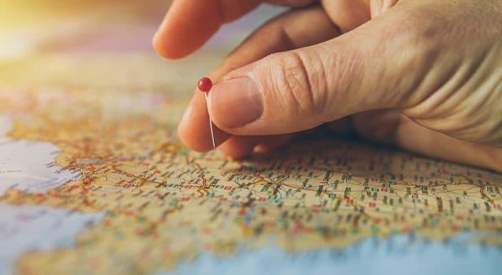 Pinned Pinning Maps Atlas Cartography Travel 2650303