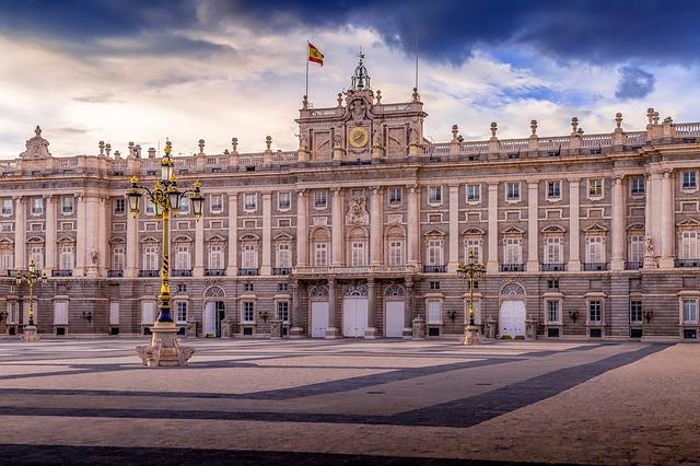 Facciata Palazzo reale di Madrid
