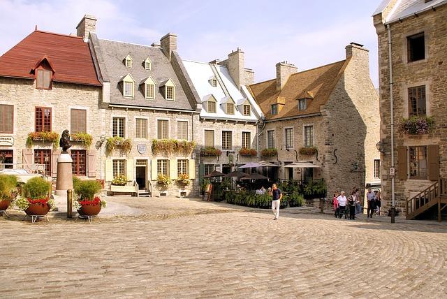 Piazza centrale di Quebec