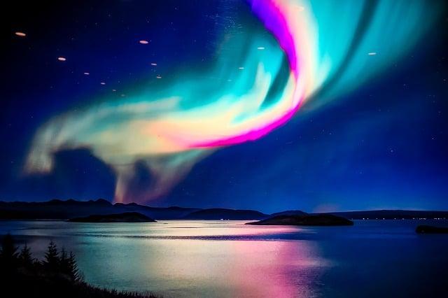 Reykjavik aurora boreale