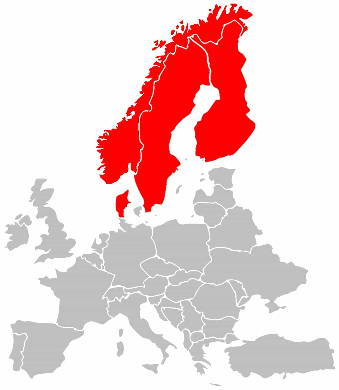 Cartina Scandinavia