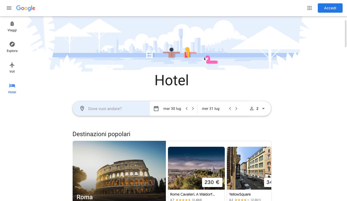 Hotel google