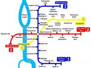Mappa metro Budapest
