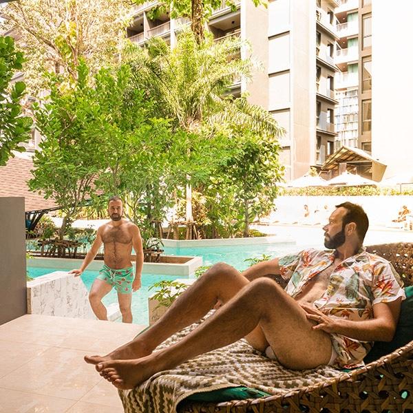 Ingresso alla piscina del Panan Krabi Resort
