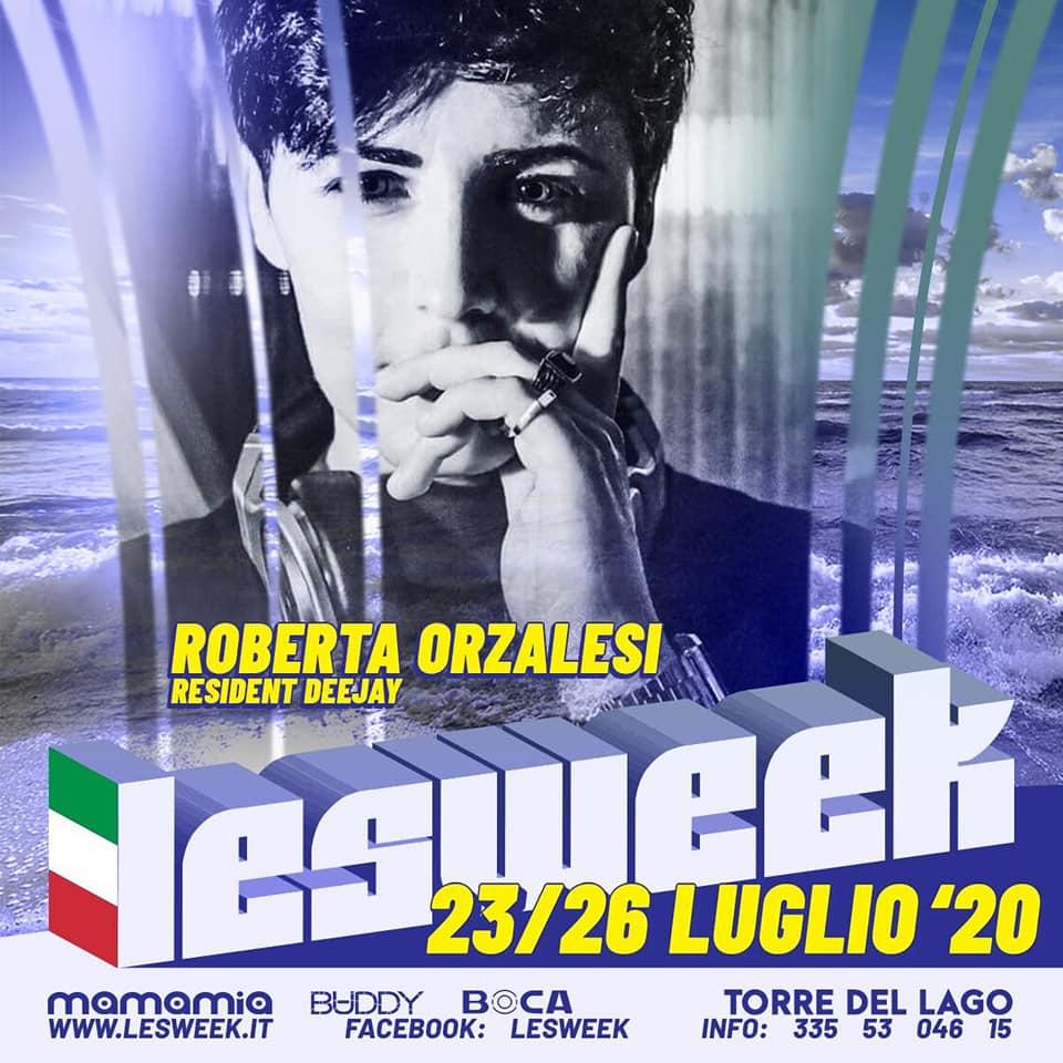 Roberta Orzalesi Dj Lesweek 2020