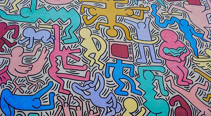 Murales Keit Haring Pisa
